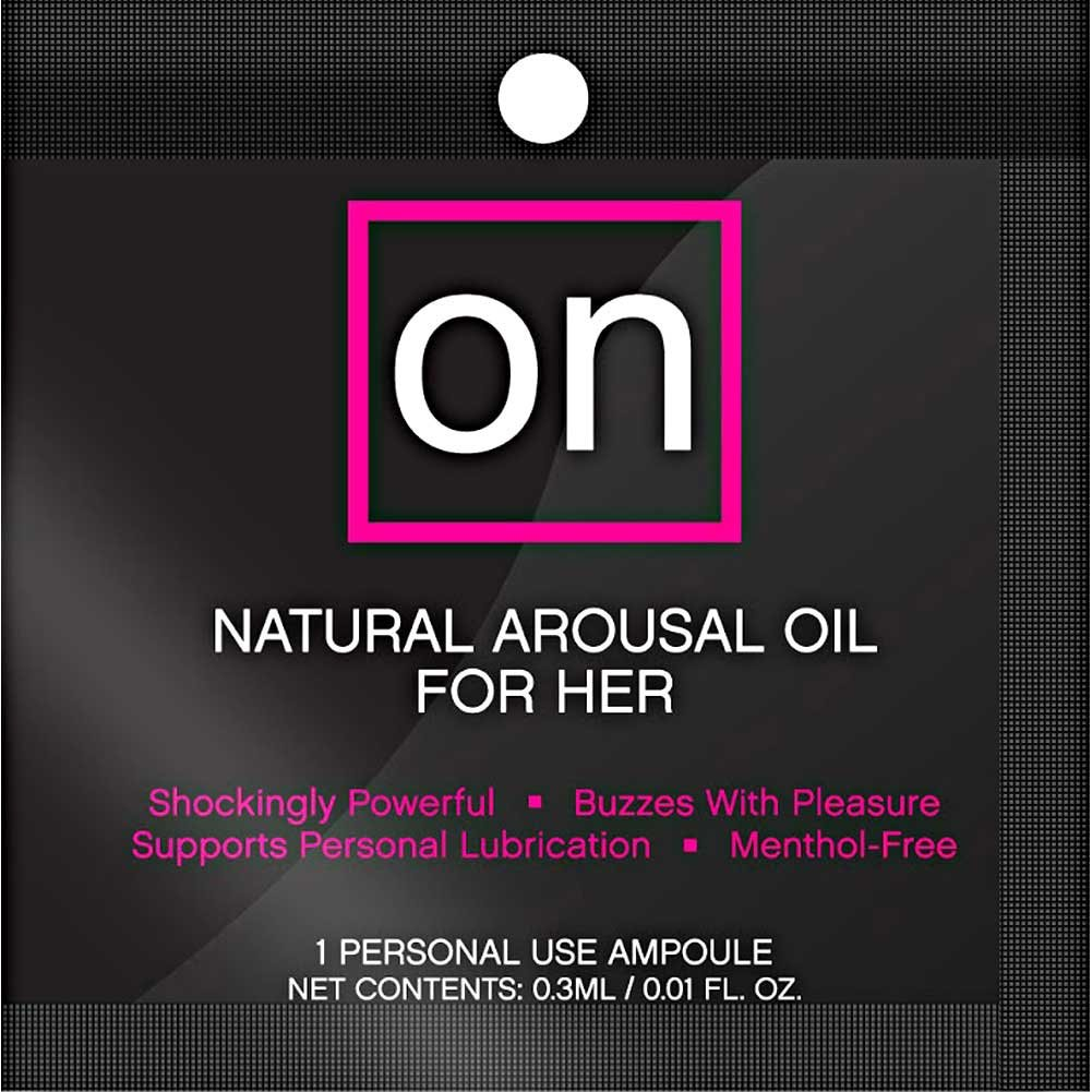Valencia Naturals ON Ampoule Female Arousal Oil 75 Piece Display Black - View #1
