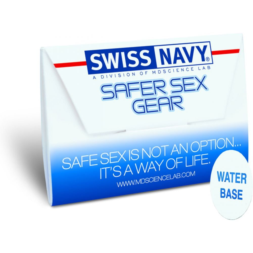 Swiss Navy Safe Sex Gear Water Based Lubricant and Condom Set 24 Piece Display Case - View #1