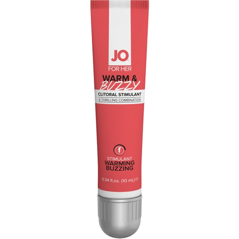 JO for Her Warm and Buzzy Clitoral Stimulant Cream 0.34 Fl.Oz 10 mL Tube - View #2