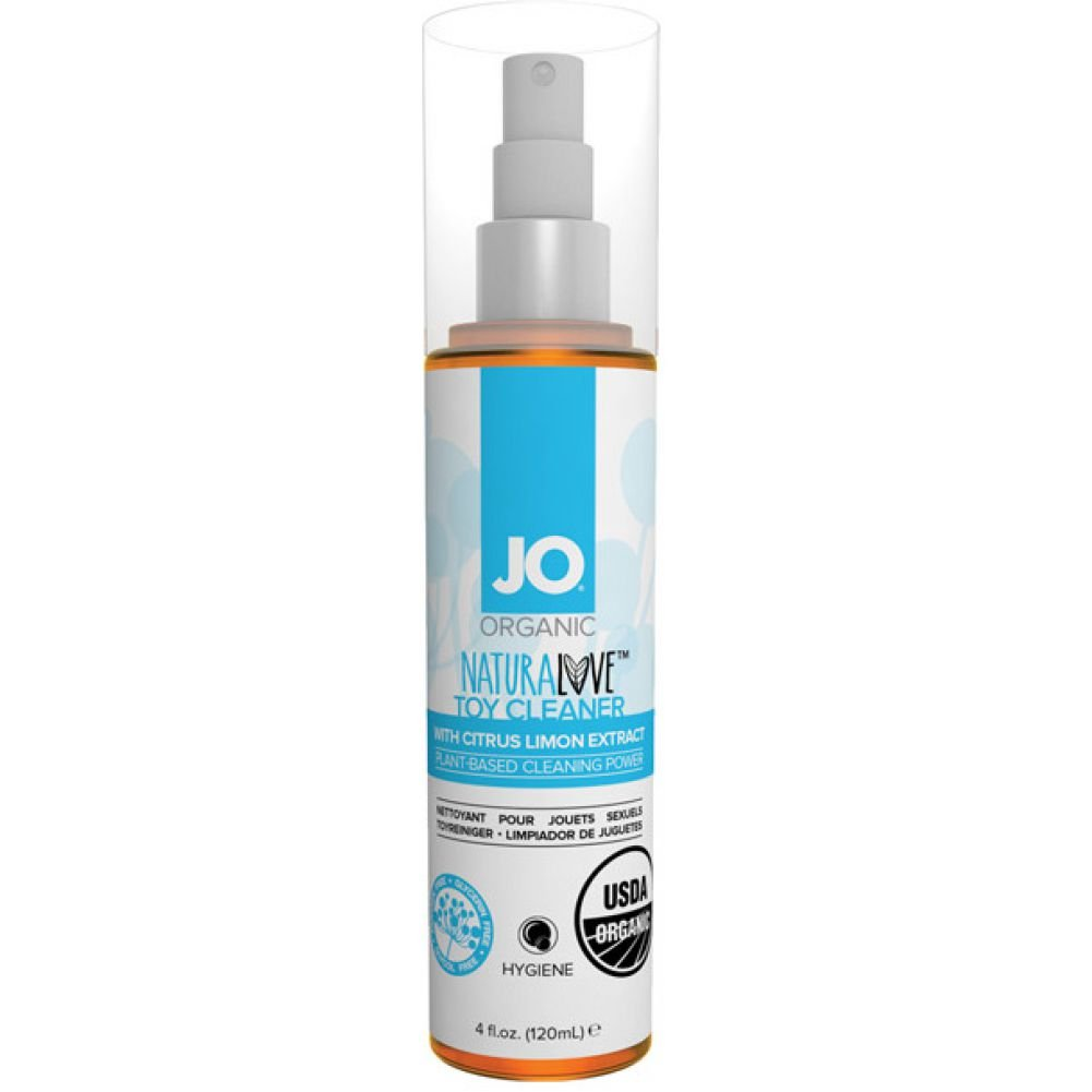 System JO USDA Organic NaturaLove Toy Cleaner 4 Fl.Oz 120 Ml - View #1