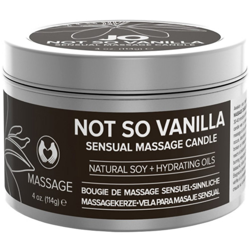 System JO Not so Vanilla Soy Sensual Massage Candle 4 Oz - View #1