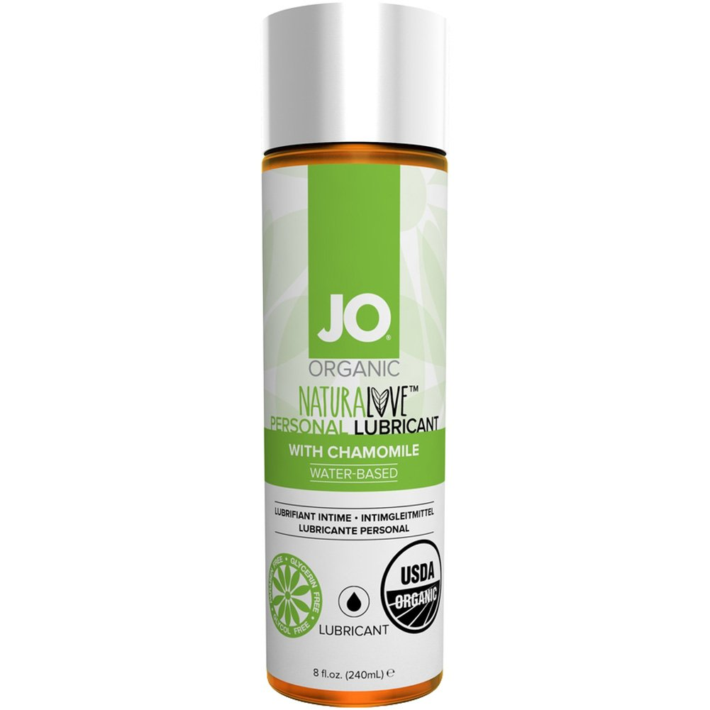 System JO USDA Organic NaturaLove Personal Lubricant with Chamomile 8 Fl.Oz 240 Ml - View #1