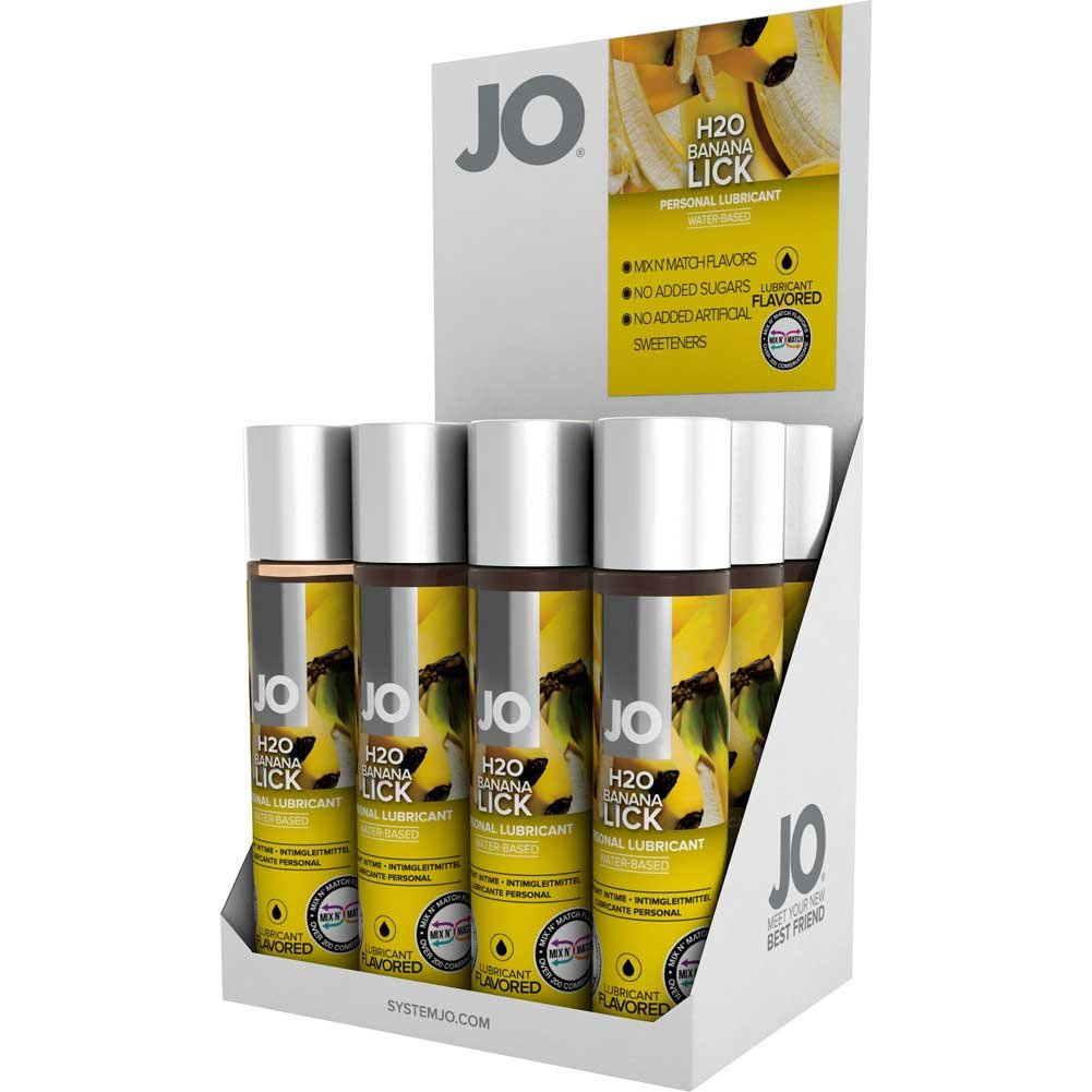 System JO Flavored Banana Intimate Lubricant 1 Fl.Oz Pack of 12 Counter Display - View #2