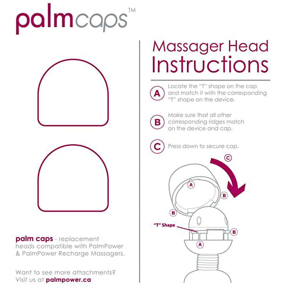 BMS Silicone Palm Power Massager Heads Palm Caps Set of 2 Pink - View #1