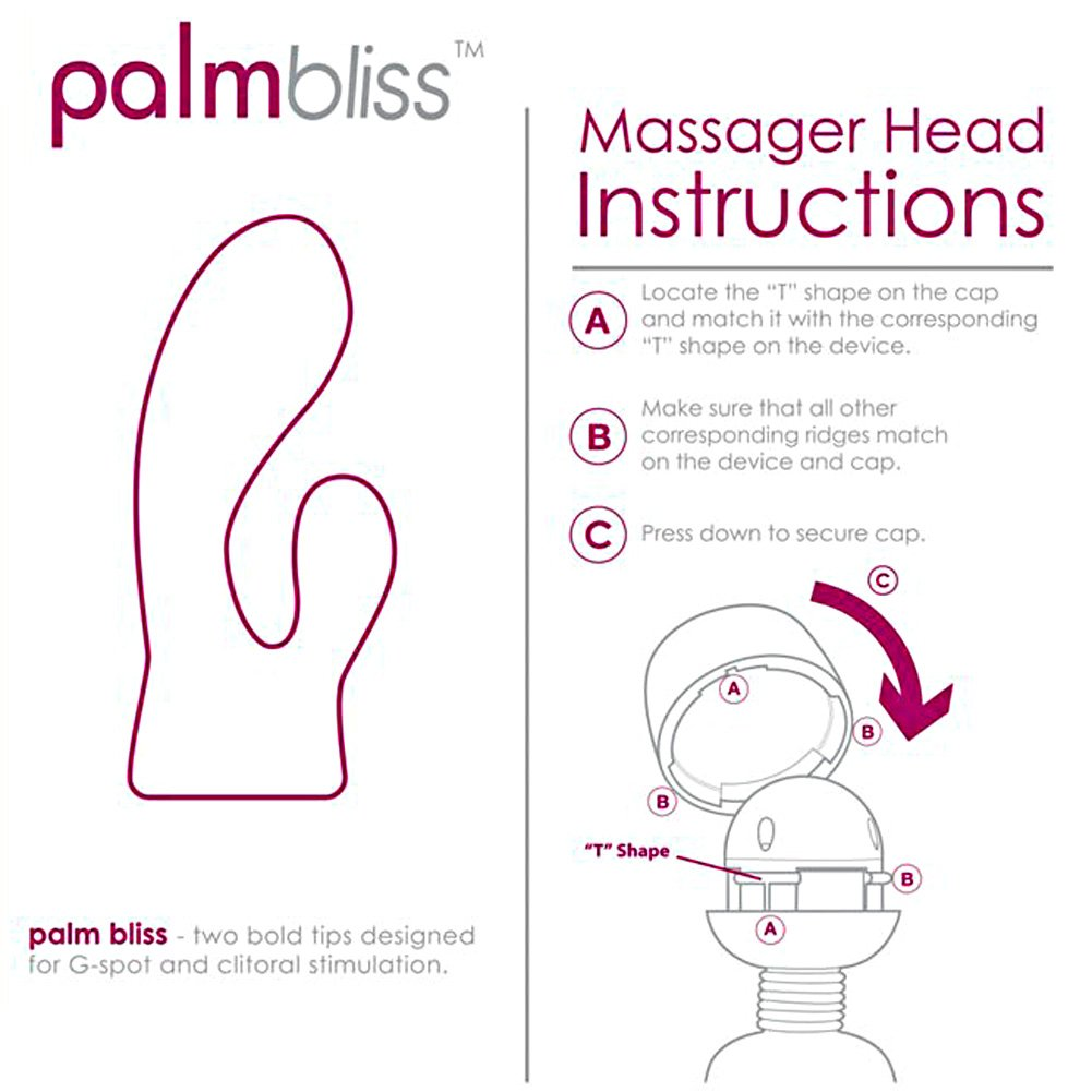 BMS Palm Power Massager Head Palm Bliss Pink - View #1