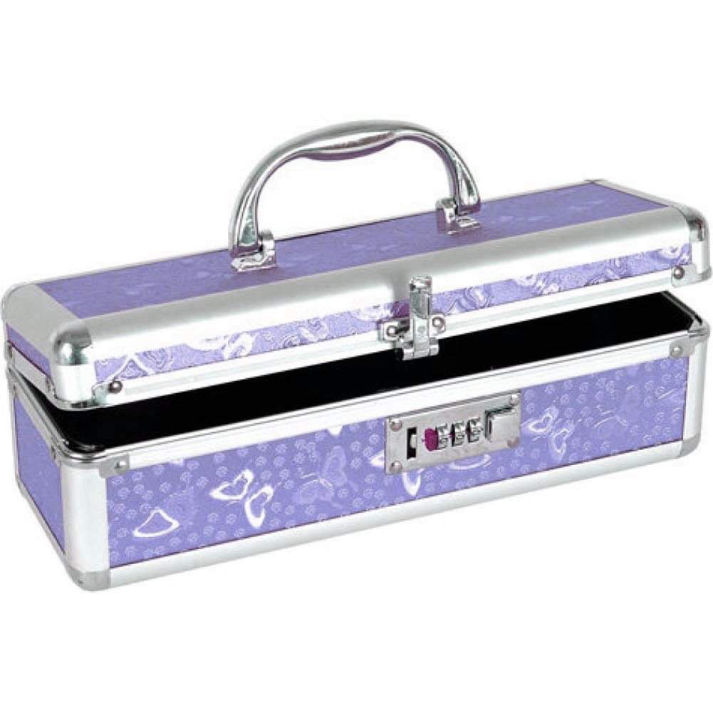 BMS Factory Lockable Vibrator Storage Case Small Purple - View #2