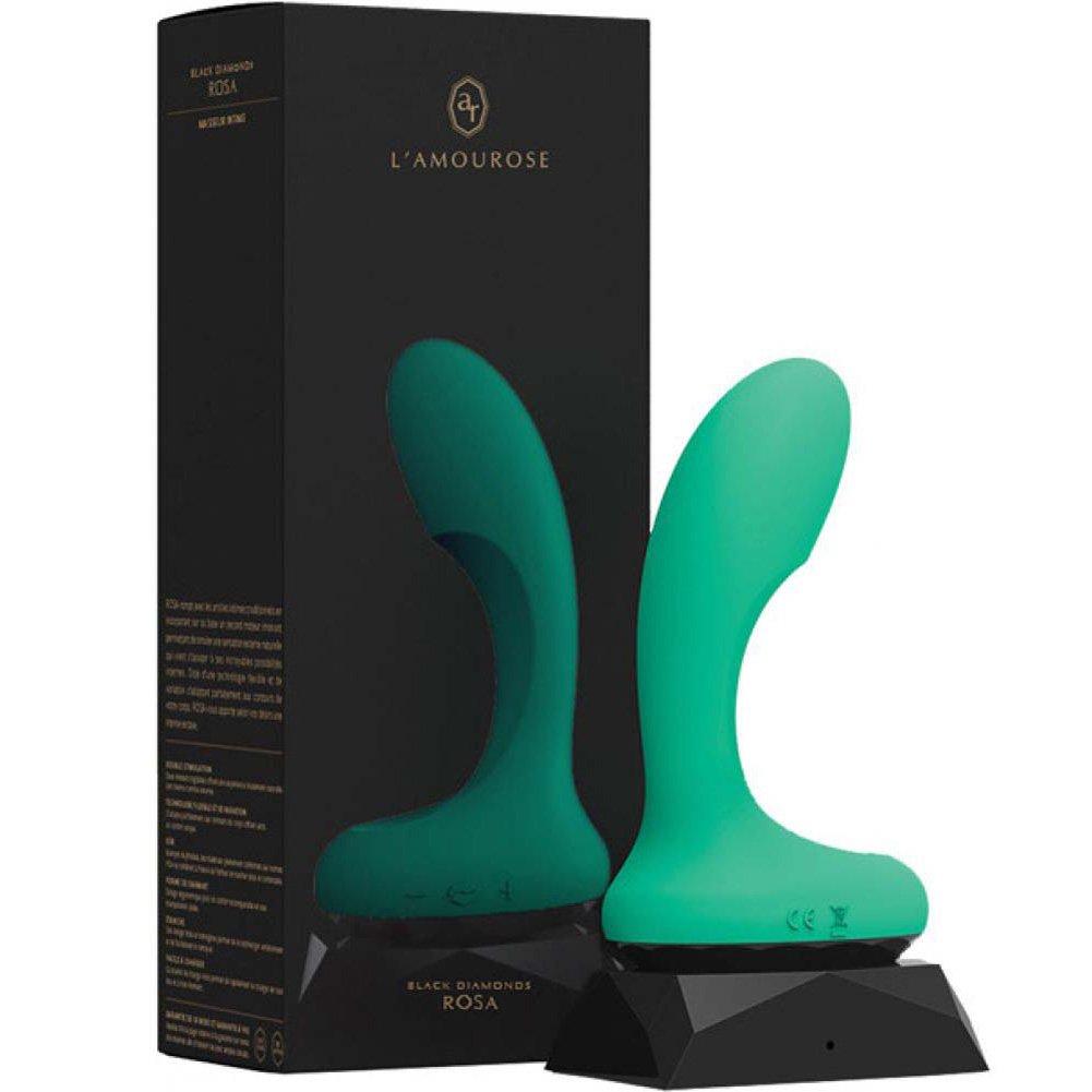 """Lamourose Silicone Rosa Emerald Vibrator 5"""" Green - View #1"""
