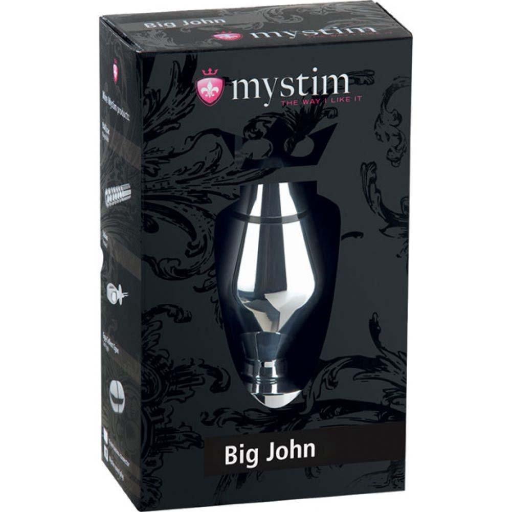 "Mystim John Butt Plug Large 4"" Silver - View #1"