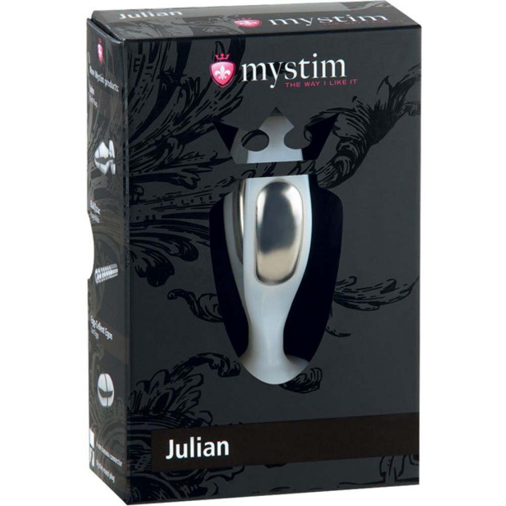 "Mystim Julian Vaginal Probe 3"" Silver - View #1"