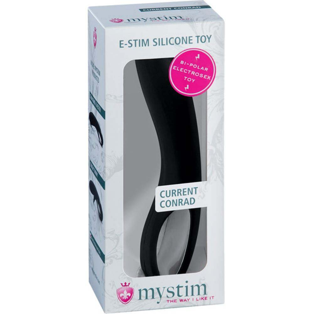 Mystim Current Conrad Estim Dildo Black - View #1