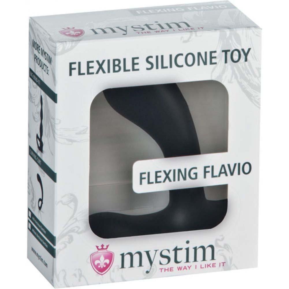 Mystim Flexing Flavio Silicone Electrosex Stimulator Black - View #3