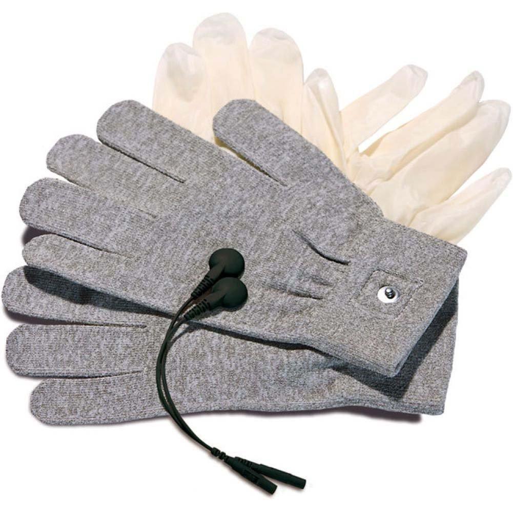 Mystim Magic Gloves One Size Grey - View #3