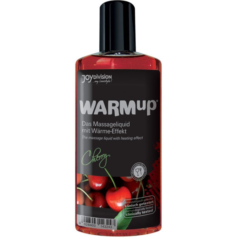 Joydivision Warmup Massage Oil with Heating Effect 5 Fl.Oz 150 mL Cherry - View #1