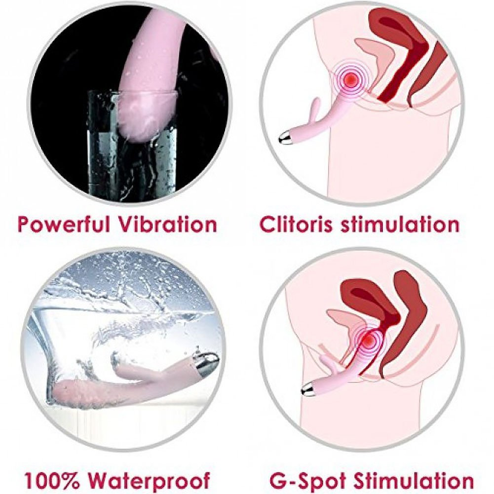Svakom Barbara Rechargeable Ribbed Rabbit Pale Pink - View #1