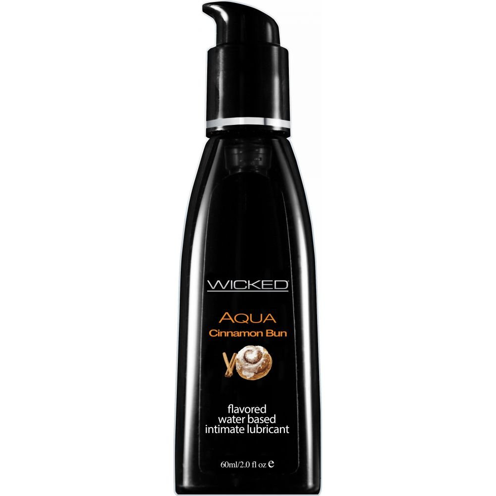 Wicked Sensual Care Collection Aqua Waterbased Lubricant 2 Oz Cinnamon Bun - View #1