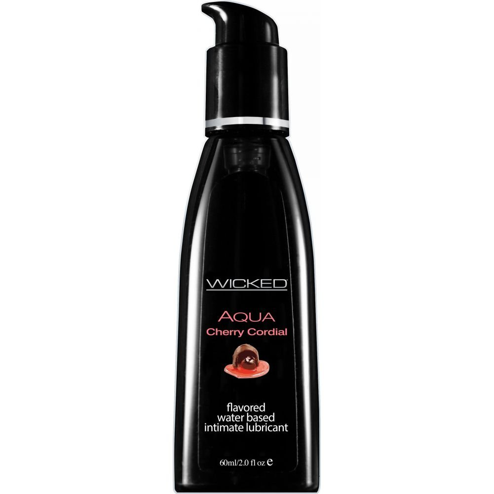 Wicked Sensual Care Collection Aqua Waterbased Lubricant 2 Oz Cherry Cordial - View #1