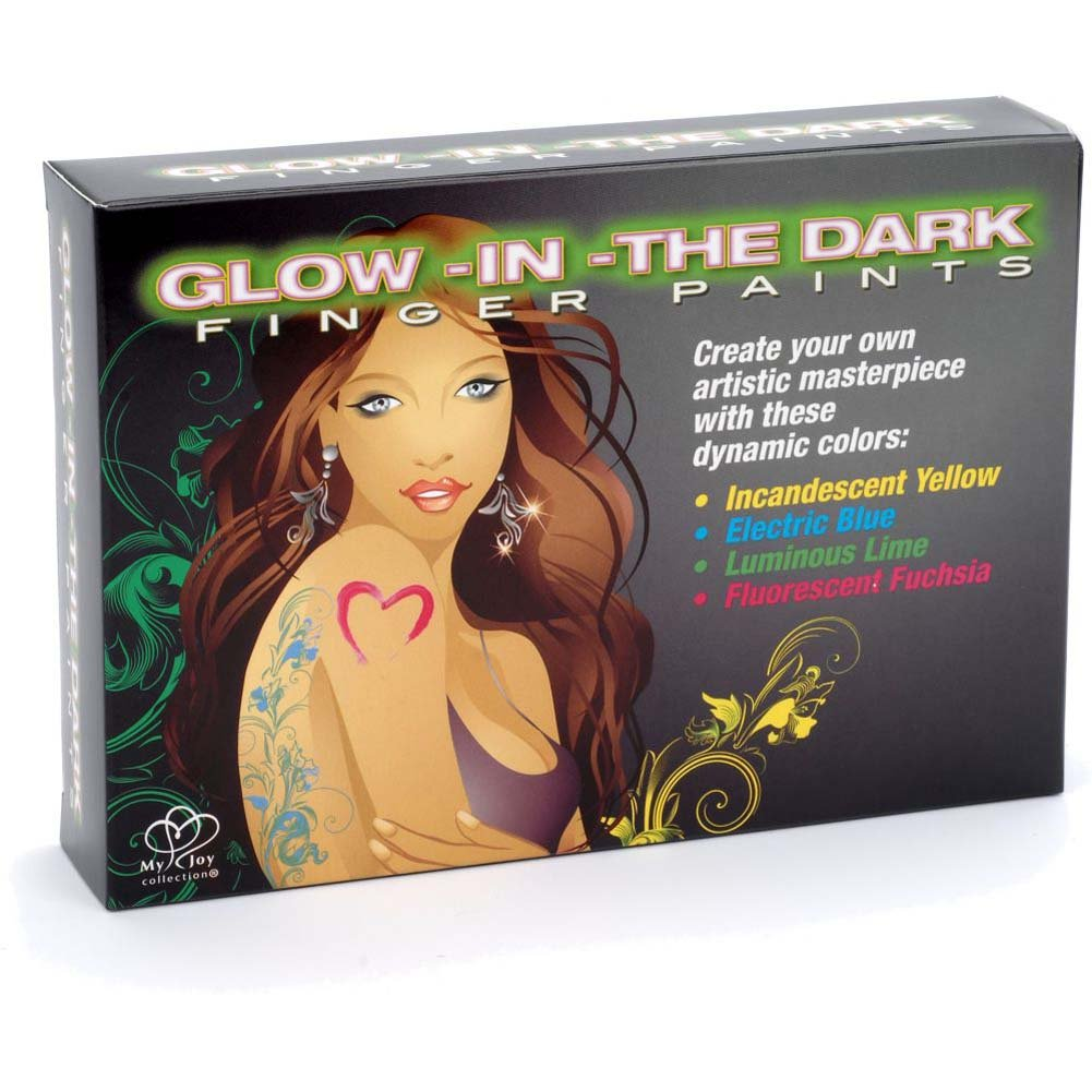 Body Art Glow-in-the-Dark Finger Paints - View #3