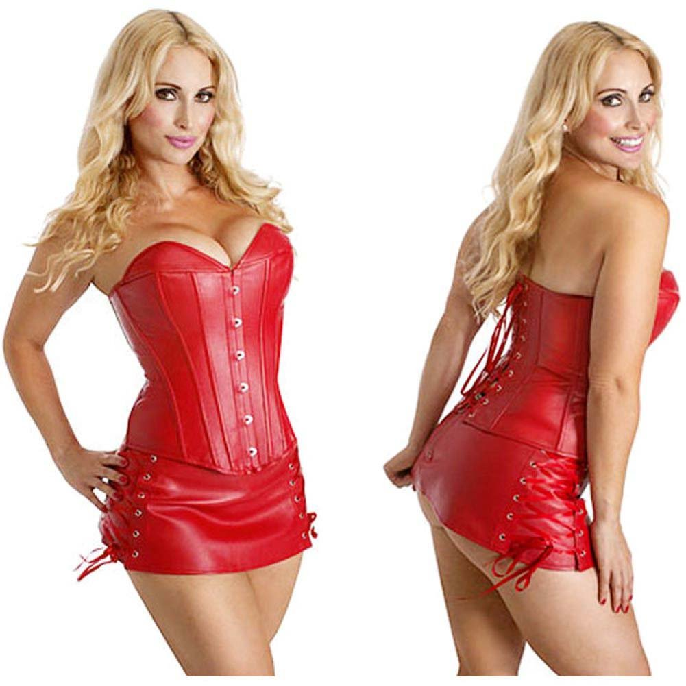 Rapture Diablo Schoolgirl Corset XXL Red - View #1