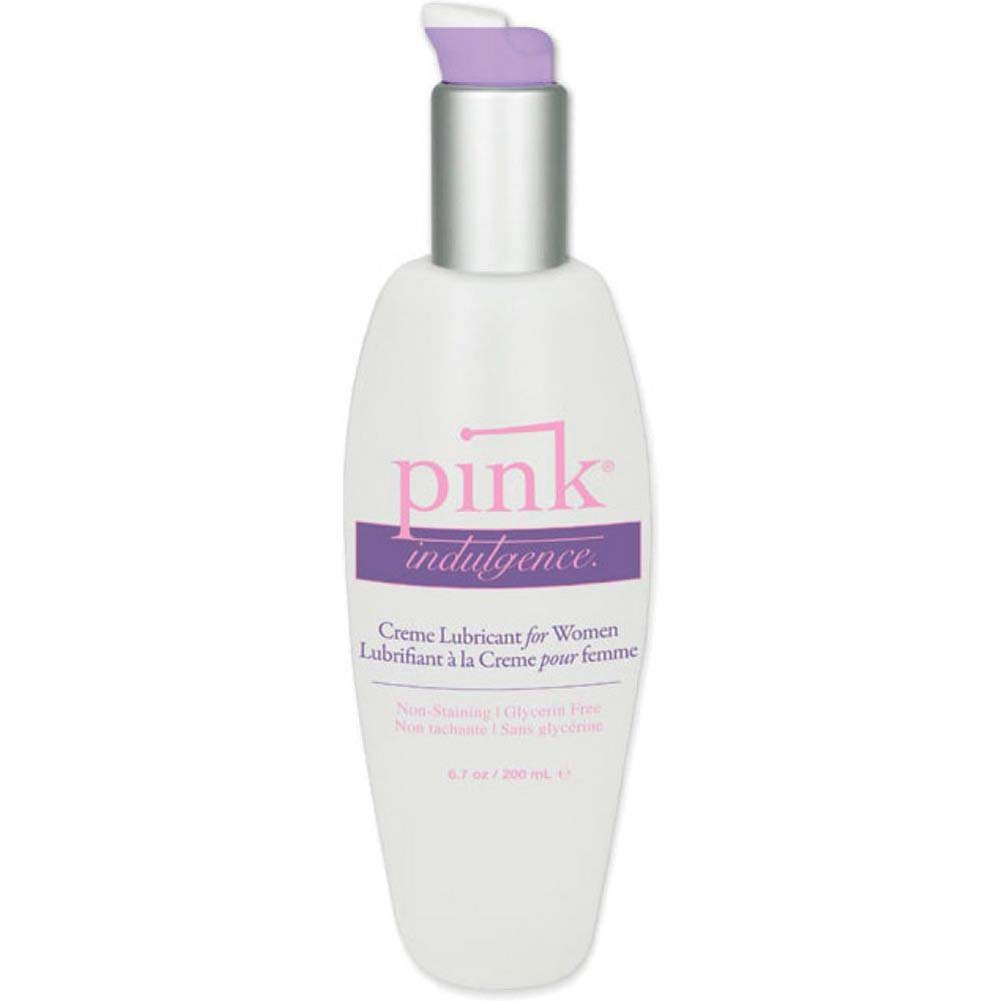 Pink Indulgence Creme Personal Water Based Lubricant for Women 6.7 Fl.Oz 200 mL - View #1