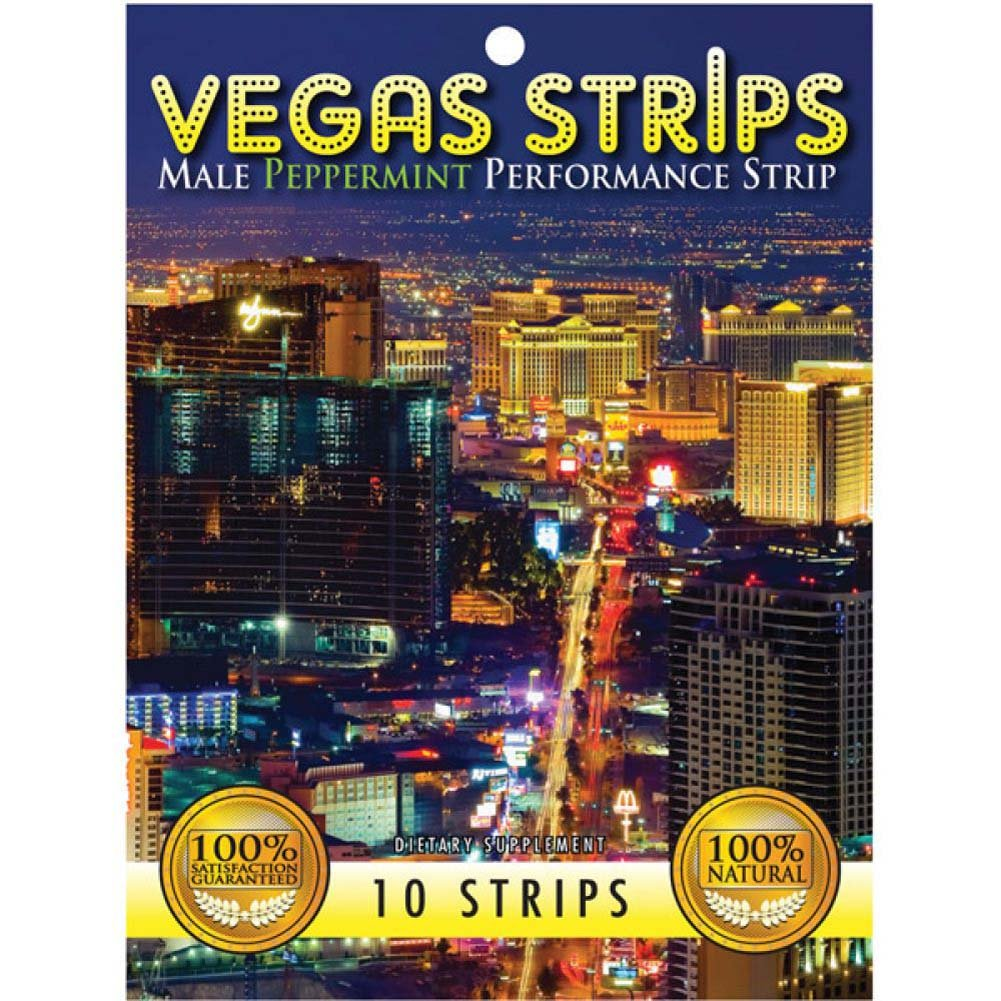 Vegas Strips Male Performance Strip Peppermint 10 Piece Pack - View #1