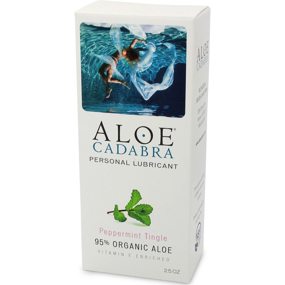 Aloe Cadabra Organic Lubricant 2.5 Oz Bottle Peppermint Tingle - View #1