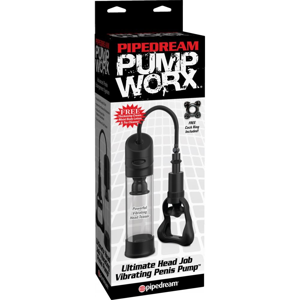 "Pump Worx Ultimate Head Job Vibrating Pump Clear 8.8"" - View #1"