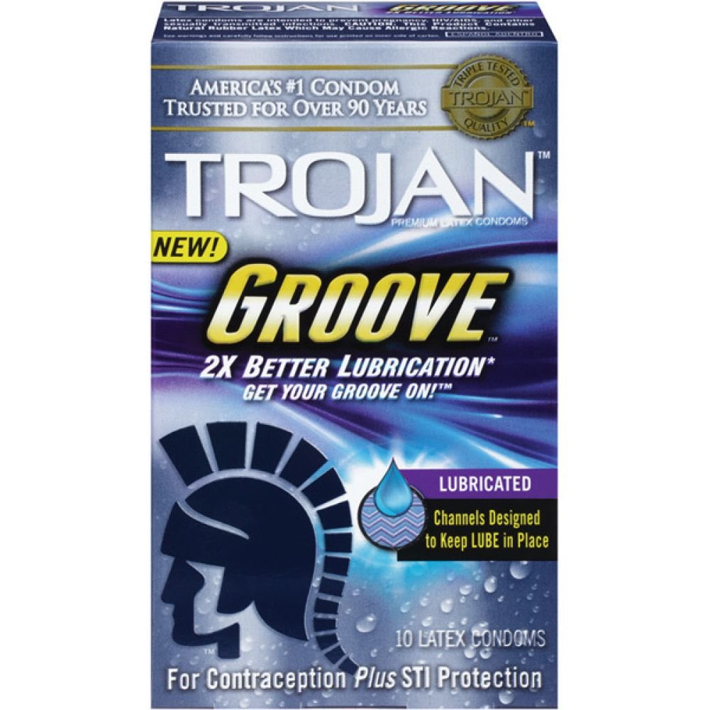 Trojan Groove Lubricated Condoms 10 Piece Box - View #1