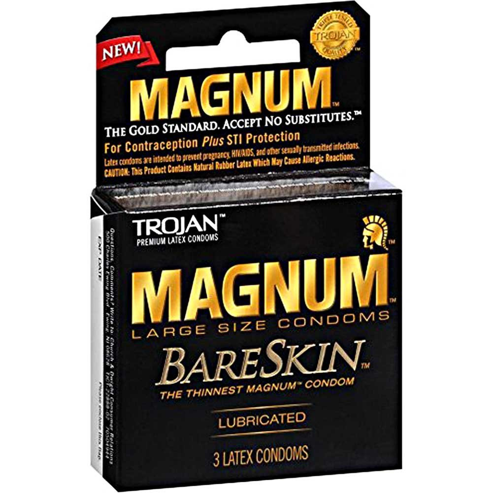 Trojan Magnum Bareskin Large Size Condoms 3 Piece Pack - View #2