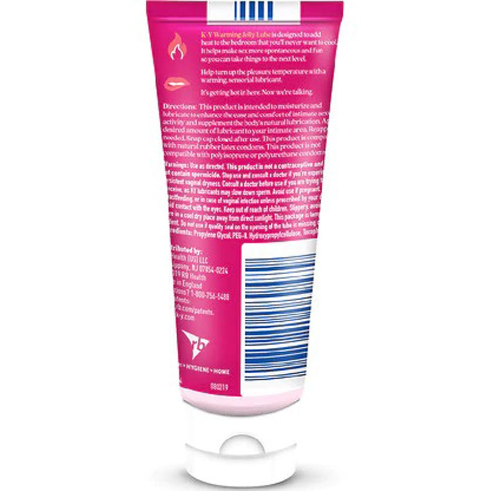 K-Y Jelly Warming Water-Based Lubricant 2.5 Fl.Oz 74 mL - View #1