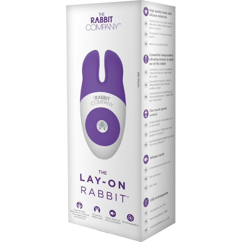 "Rabbit Company Lay On Rabbit Personal Vibrator 4.5"" Purple - View #1"