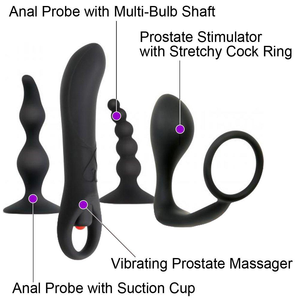 Zero Tolerance Intro to Prostate Kit for Men with 4 Silicone Toys Black - View #1
