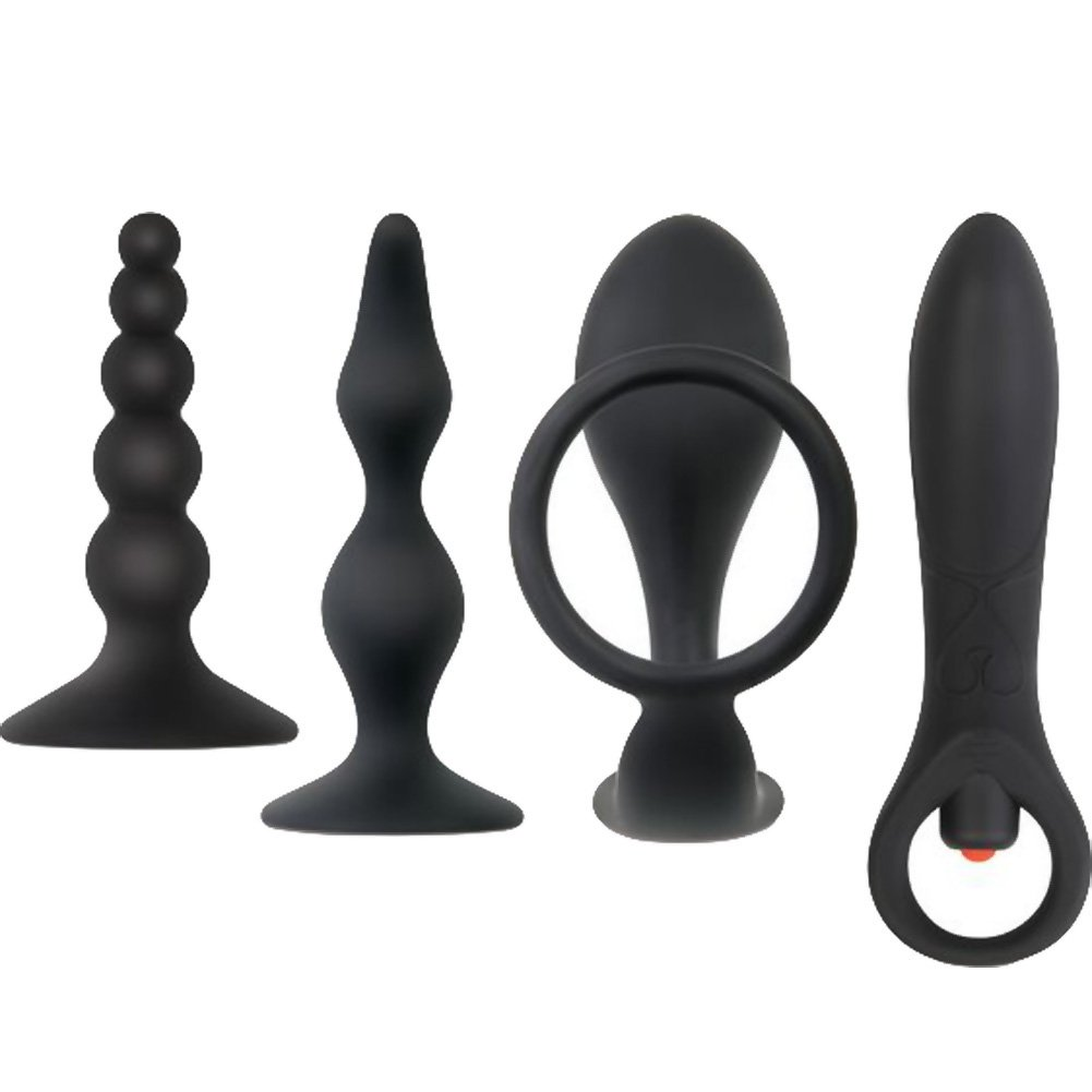Zero Tolerance Intro to Prostate Kit for Men with 4 Silicone Toys Black - View #3