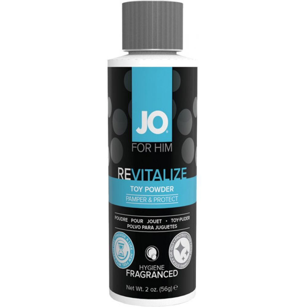 System JO Revitalize Toy Powder for Him 2 Ounce 56 G - View #1