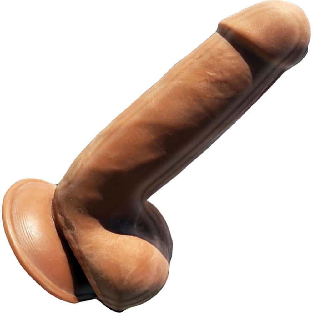 "Hott Products Skinsations Latin Lover Series Papi Chulo Dildo 6.5"" Brown - View #2"