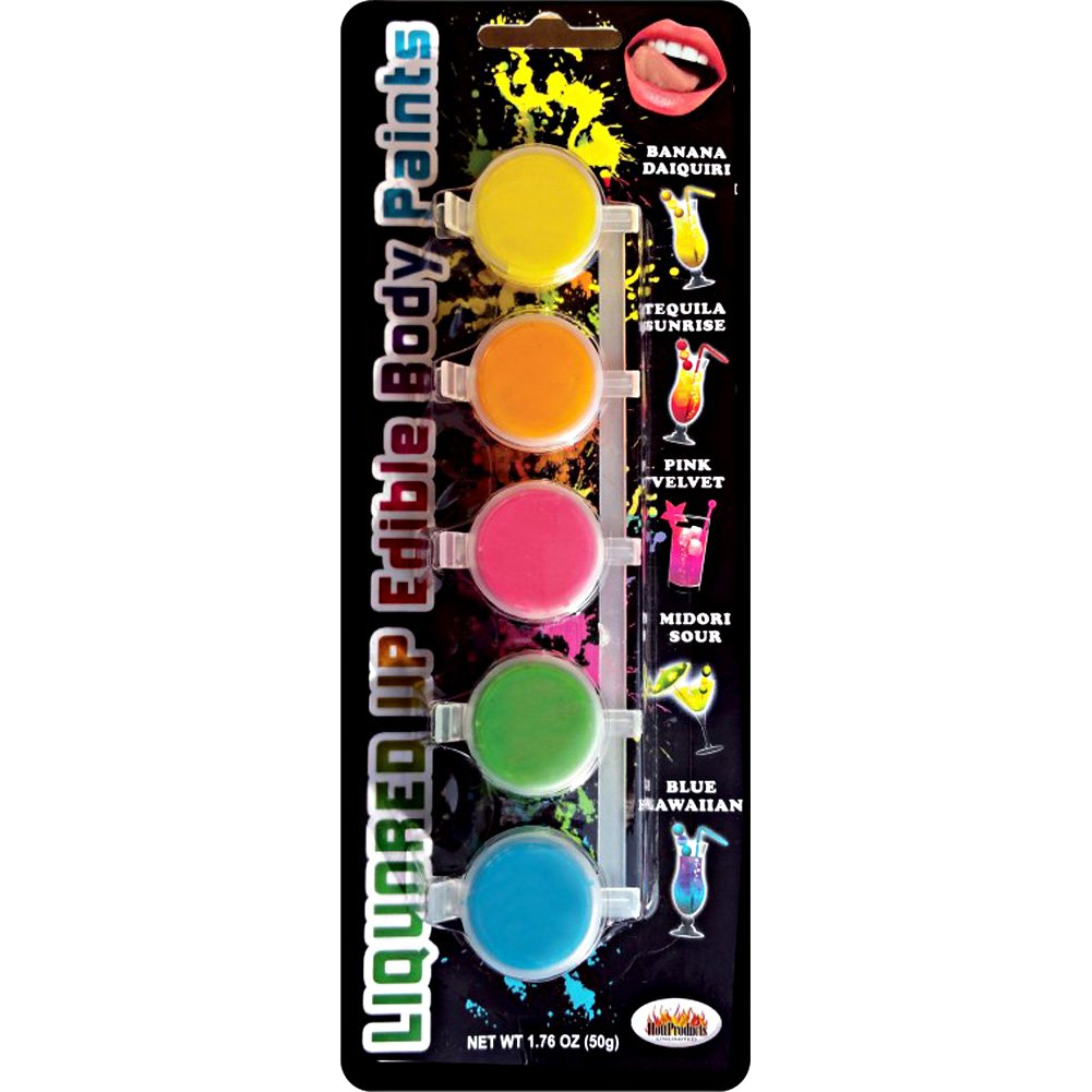 Hott Products Liquored Up Edible Body Paints 1.76 Oz Assorted Flavors Set of 5 - View #2