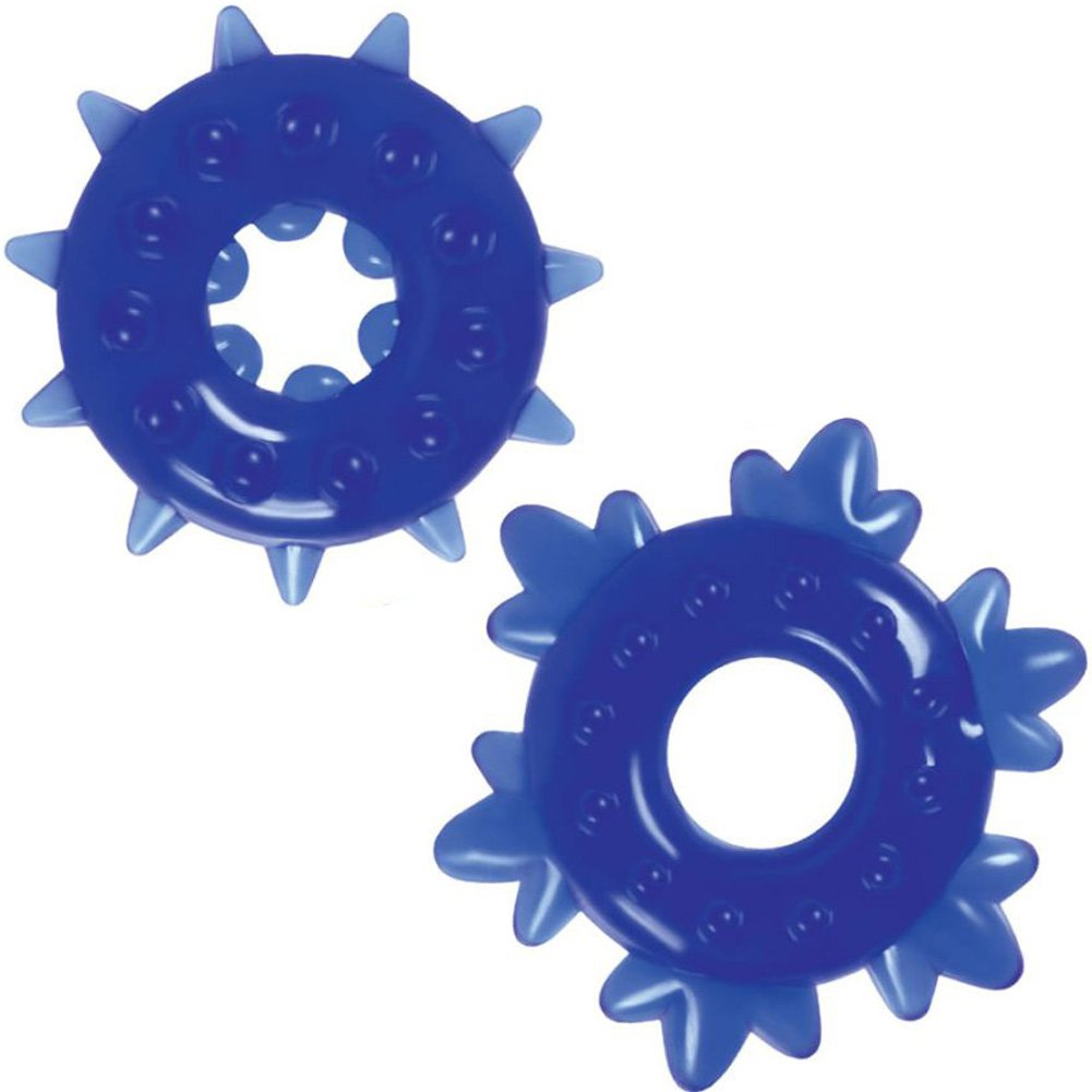 NS Novelties Renegade Spike Cockrings Blue Set of 2 - View #2