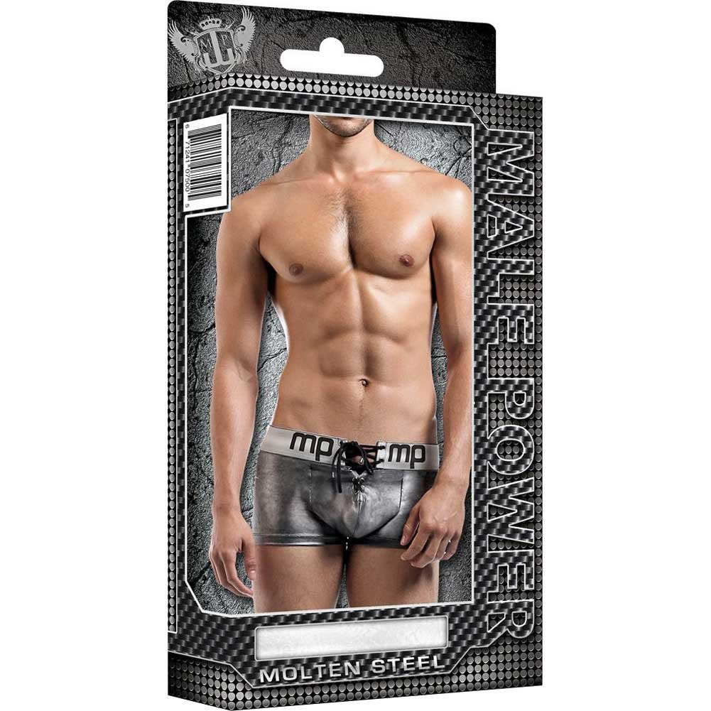 Male Power Molten Steel Lace Up Short Grey Extra Large - View #3