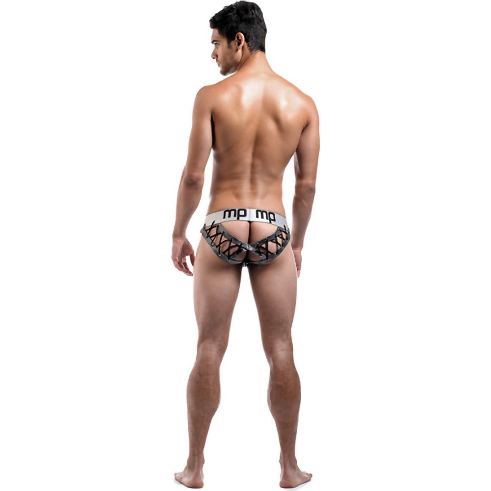 Male Power Molten Steel Lace Up Moonshine Briefs Small/Medium Grey - View #4