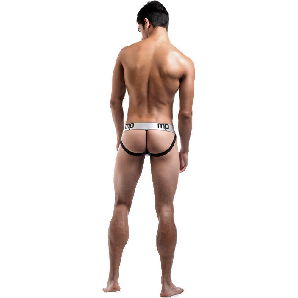 Male Power Molten Steel Lace Up Jock Small/Medium Grey - View #4