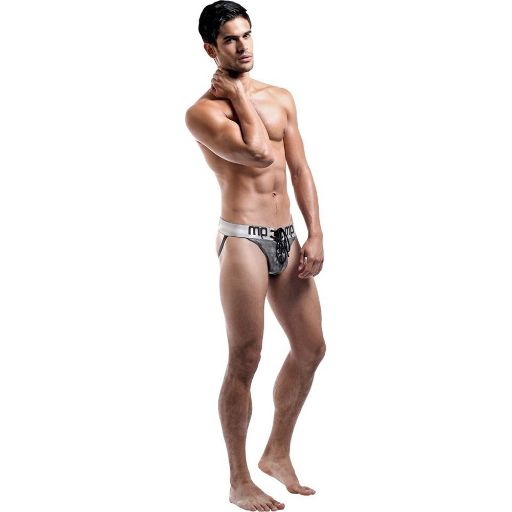 Male Power Molten Steel Lace Up Jock Large/Extra Large Grey - View #3