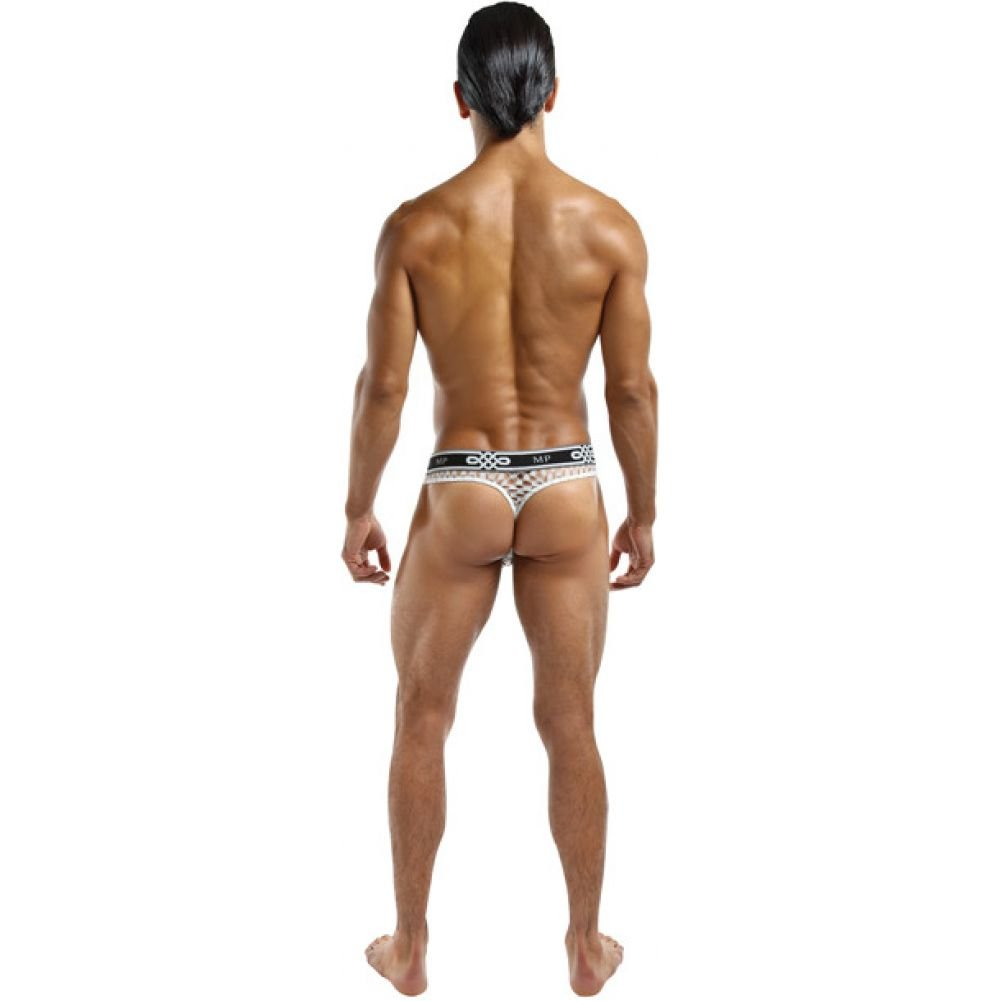 Male Power Lo Rise Thong Large/Extra Large White - View #2