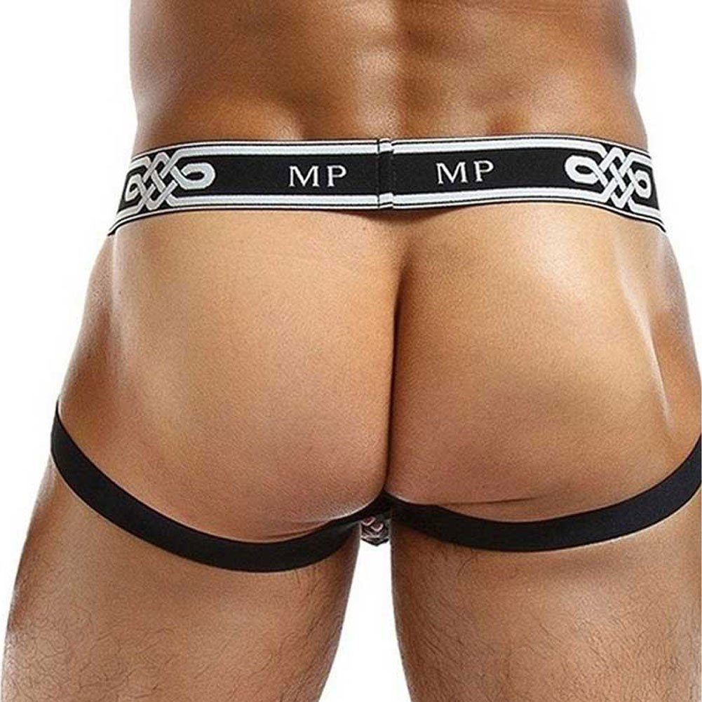 Male Power See Through Ring Jock Large/Extra Large Black - View #2