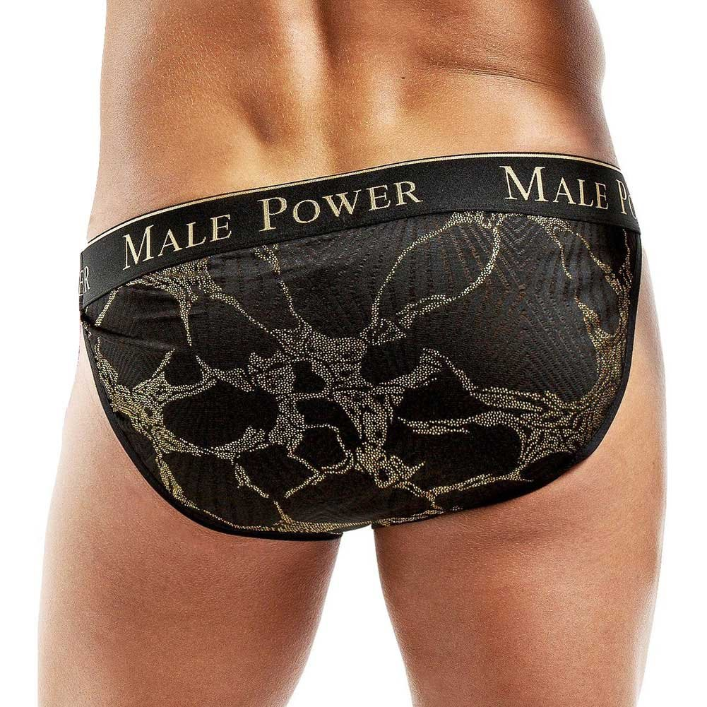 Male Power Enrichment Bikini Medium Black Gold - View #2