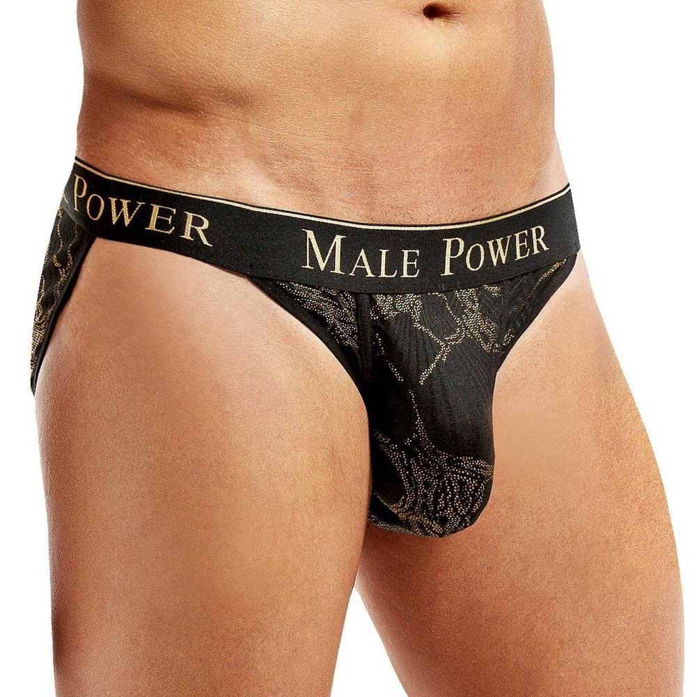 Male Power Enrichment Bikini Extra Large Black Gold - View #1
