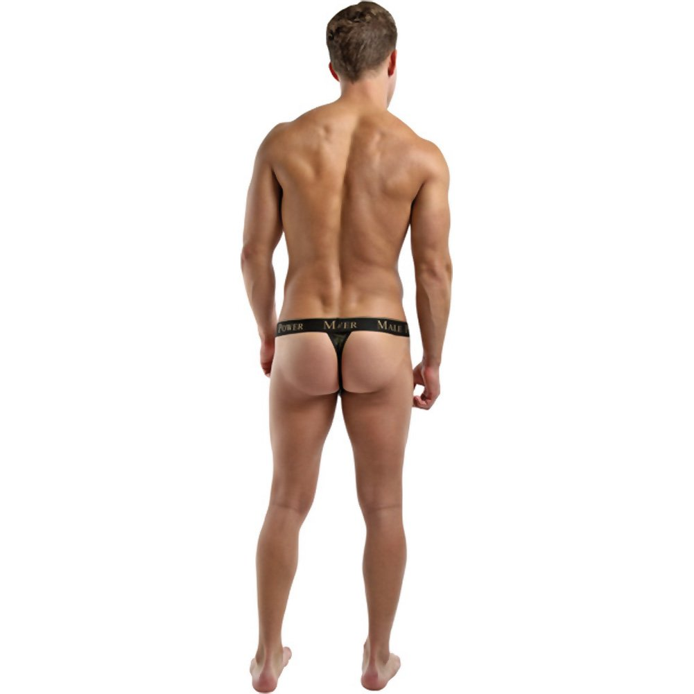 Male Power Enrichment Thong Small/Medium Black Gold - View #4