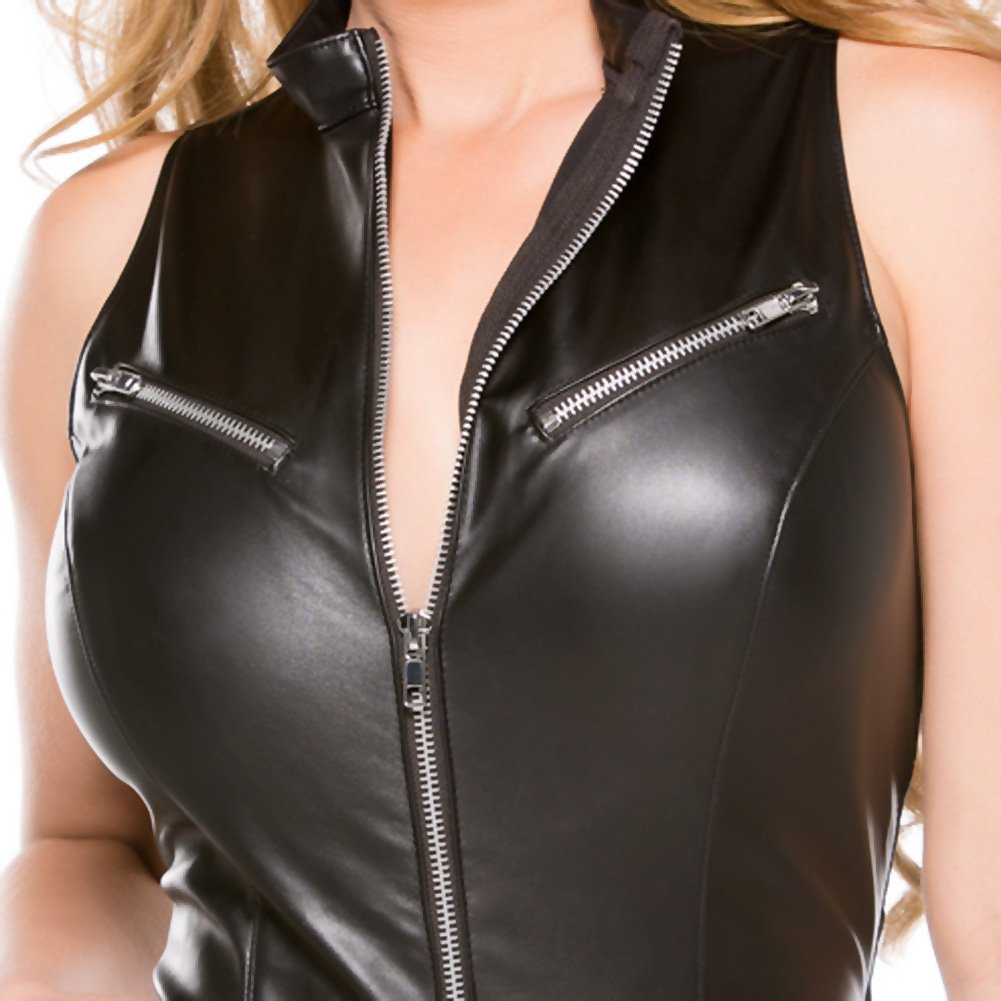 Faux Leather Teddy Black Small - View #4
