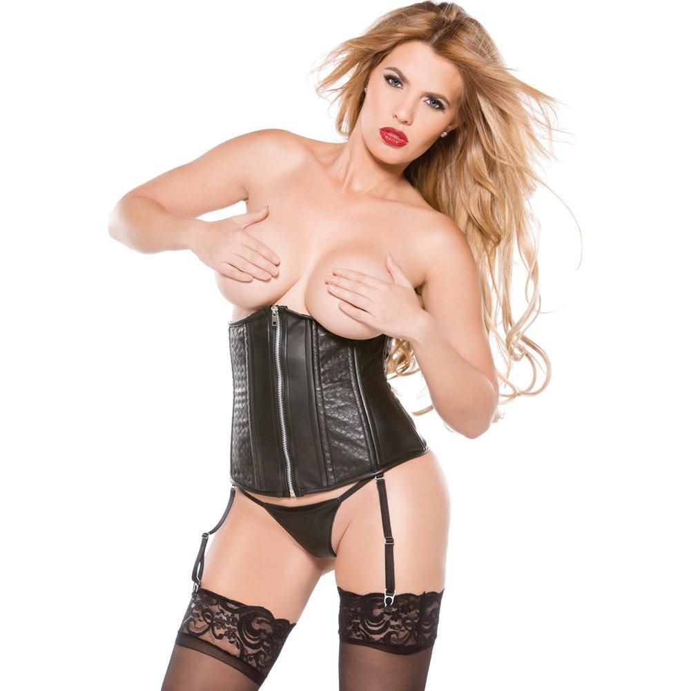 Faux Leather Cincher Black Medium - View #1