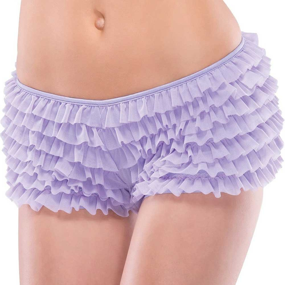 Ruffle Shorts with Back Bow Detail Lilac One Size - View #2