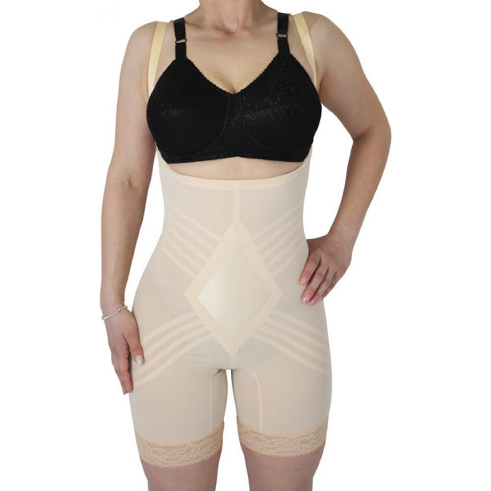 Rago Shapewear Wear Your Own Bra Body Shaper Beige Medium - View #1