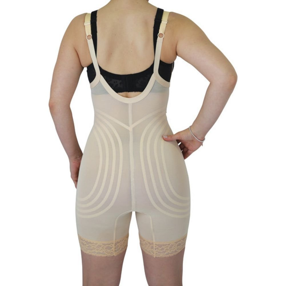 Rago Shapewear Wear Your Own Bra Body Shaper Beige Large - View #2